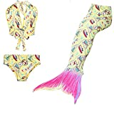 VT BigHome Children Mermaid Tails Girl Kids Swimmable Baby Children Fancy Mermaid Tail Costume Swimsuit Bikini