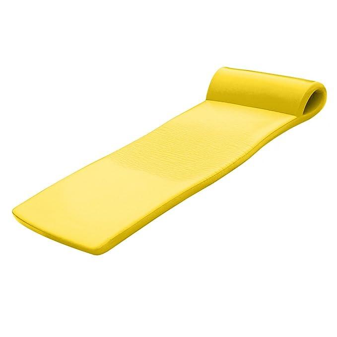 California Sun Deluxe Oversized Unsinkable Foam Cushion Pool Float - Yellow