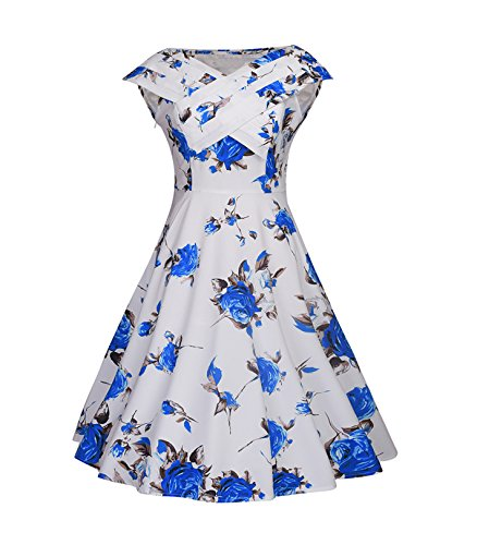 Women's Floral Knee-Length Cap Sleeve Easter Party Dresses - Womens Size 3 Easter Dress