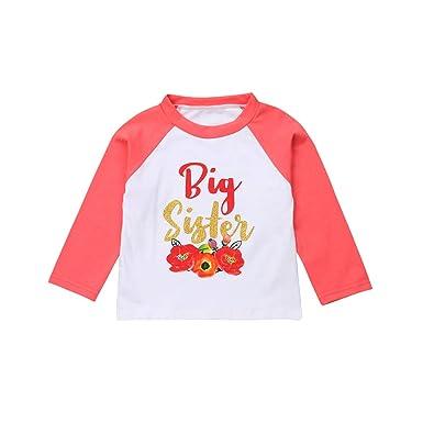 a8653efce Amazon.com  GoodFilling Toddler Baby Kids Girl Long Sleeve Little ...