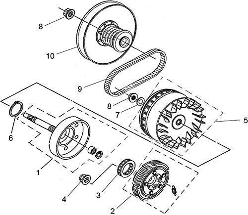 Amazon Com Wet Clutch Drum Kit For Utv Atv500 550 700 Hisun