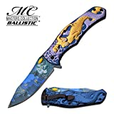 Master Collection Spring Assisted Folding Knife Medusa Orange MC-A028GP - hunting knives, military surplus - survival and camping gear