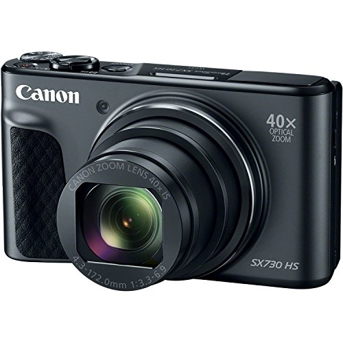 Canon PowerShot SX730 Digital Camera w/40x Optical Zoom & 3 Inch Tilt LCD - Wi-Fi, NFC, & Bluetooth Enabled Black (Certified Refurbished)