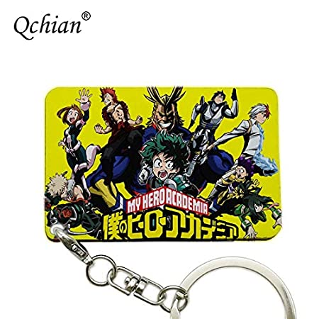 Amazon.com: Momoso_Store anime my hero academia key chains ...