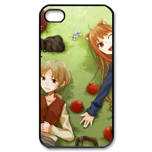 Spice and Wolf Holo Hard Plastic Snap-On Case Skin Cover For iPhone 4 4S Black LPA1884