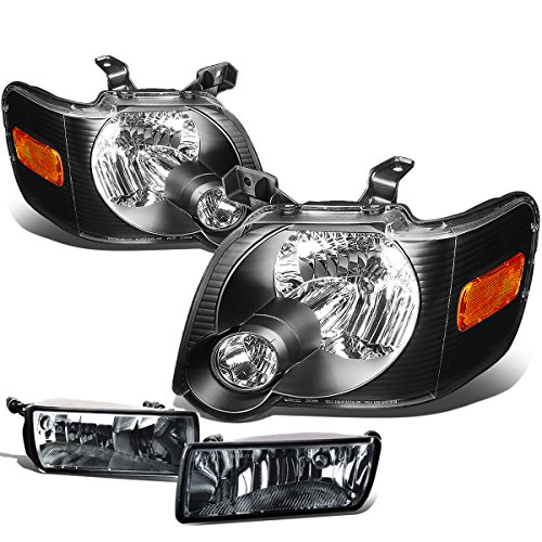 - For Ford Explorer/Sport Trac U251 Pair of Black Housing Amber Corner Headlights+Smoked Fog Lights