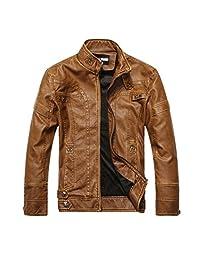 Fashion Motorcycle PU Leather Clothing Men's Leather Jacket