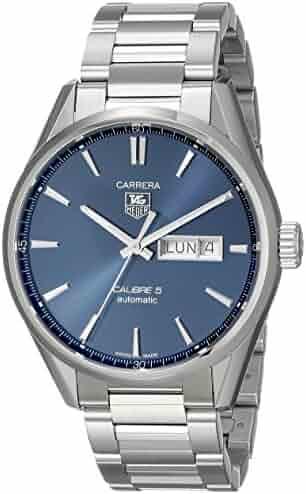 TAG Heuer Men's WAR201E.BA0723 Carrera Analog Display Swiss Automatic Silver Watch