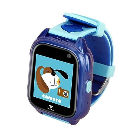 Xwly-sw Reloj Inteligente para niños Relojes Inteligentes para niños Smartwatch Rastreador de GPS Reloj