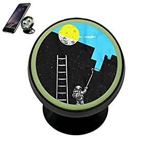 Painti Sky Moon Magnetic Phone Car Mount Holder Universal 360 Rotation Stand Metal Mobile Phone
