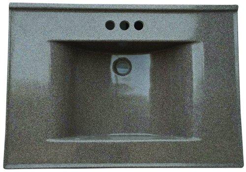 Premier Faucet 261350 Cultured Marble Vanity Top, 22 x 31, Cappuccino (31 22 X)