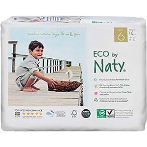 Naty By Nature Babycare - Pañales ecológicos - Talla 6 (16+ kg) - 18 pañales