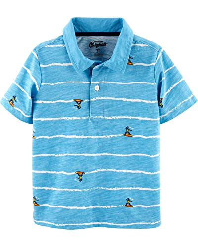 Osh Kosh Boys' Toddler Short-Sleeve Polo, Ninja Surf, 2T