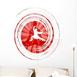 Wallmonkeys Karate Wall Decal Peel and Stick Graphic WM262782 (36 in H x 36 in W)
