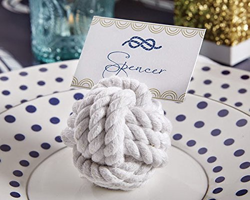 (72 Nautical Cotton Rope Place Card Holder)