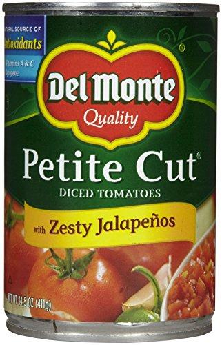 - Del Monte Petite Cut Diced Tomatoes w/ Zesty Jalapenos - 14.5 oz