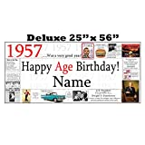 1957 DELUXE PERSONALIZED BANNER by Partypro