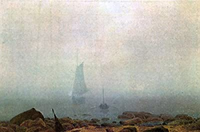 Nebel by Caspar David Friedrich. 100% Hand Painted. Oil On Canvas. Reproduction. (Unframed and Unstretched).