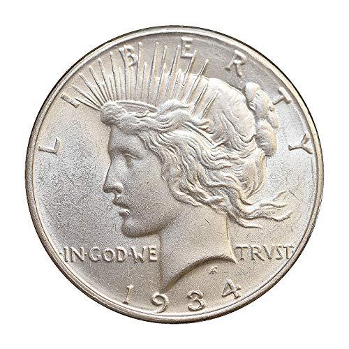 1934 D Peace Silver Dollar - Gem BU/MS/UNC