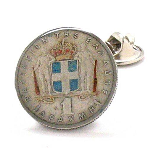 Marcos Villa Greece Coin Tie Tack Lapel Pin Suit Flag Greek Athens Acropolis Sparta Parthenon Europe Crete