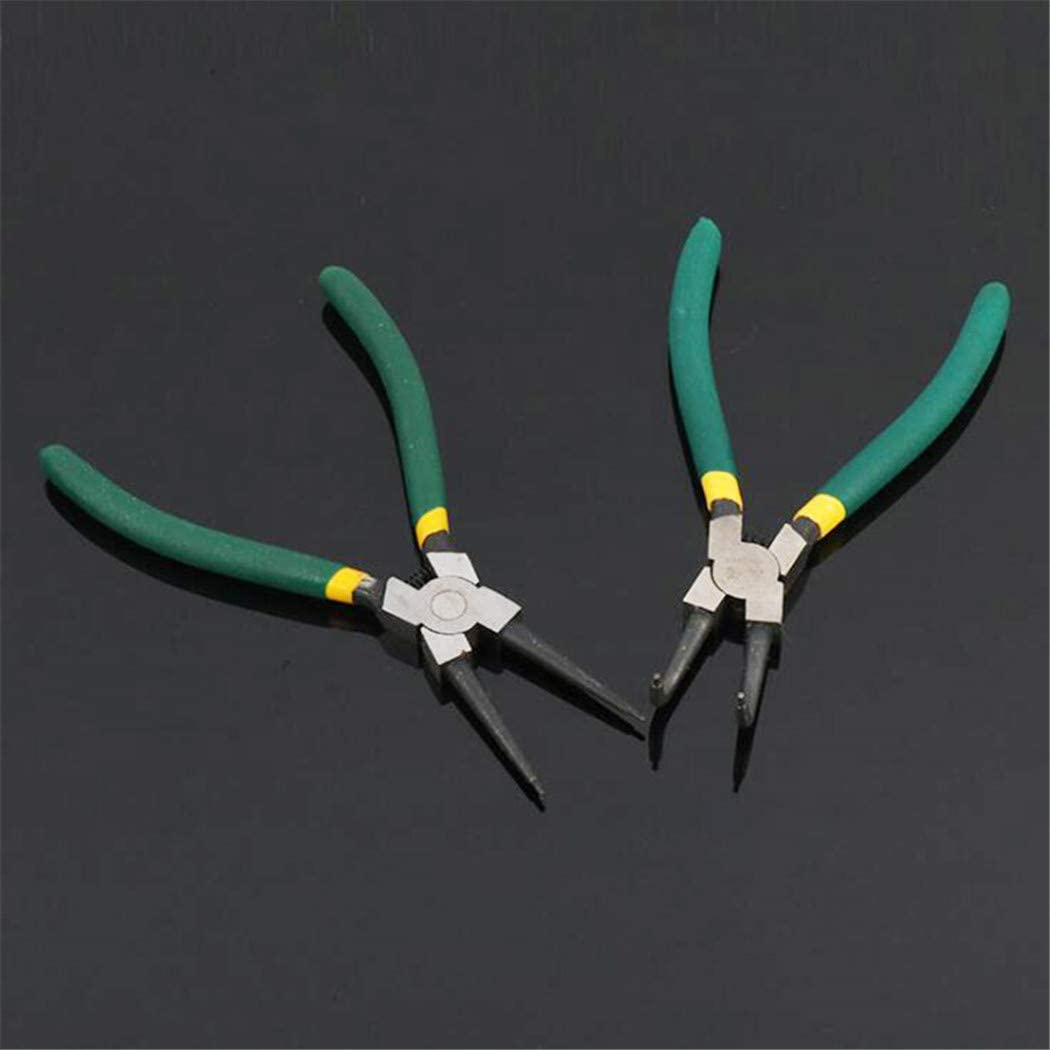 7Inch Circlip Pliers Internal External Curved Straight Tip Circlip Plier Snap Ring Plier Mechanical Tools 4pcs Nw1