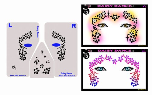 Face Painting Stencil - StencilEyes Daisy Dance - (Halloween Face Painting Flowers)