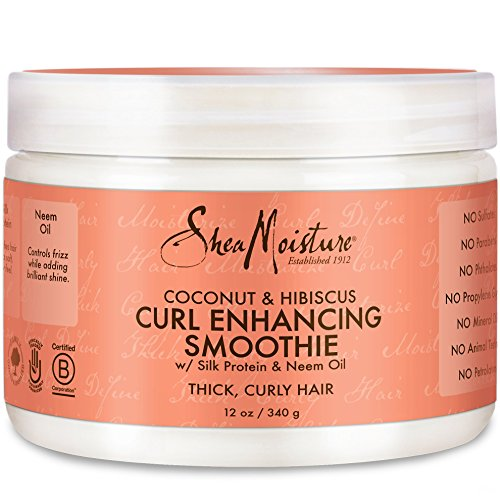 Shea Moisture Coconut Hibiscus Curl Enhancing Smoothie-12 oz (Best Product For Natural Curls)