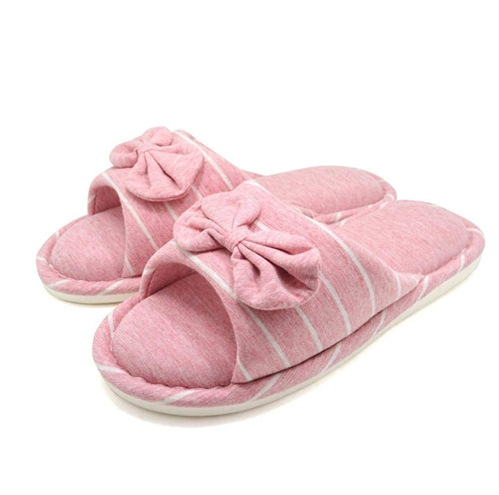 Pink JaHGDU Women Home Slippers Leisure Home Indoor Slippers Light bluee Pink Stripe Soild color Personality for Women