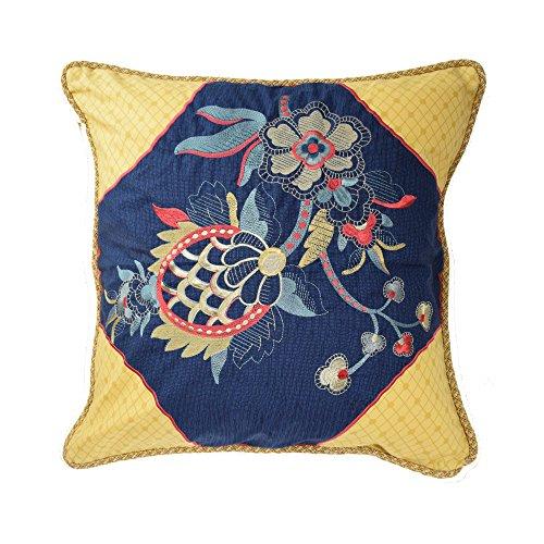 Waverly 14563020X020JWL Rhapsody 20-Inch by 20-Inch Embroidered Decorative Pillow, Jewel (Jewel Tone Comforter)