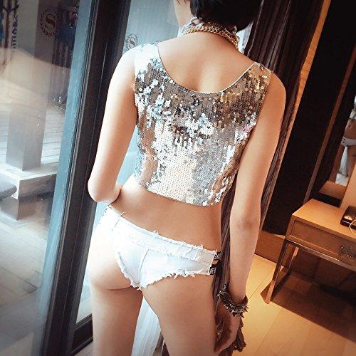 occident pizzo Pantaloncini vita denim donna da in ZhuXin a short White hot estate pants sexy bassa wzxq4S4