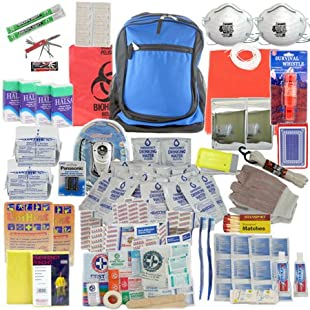 SurvivalKitsOnline Deluxe 2-Person, 3-Day Survival Kit for Emergency Disaster Preparedness for Earthquake, Hurricane, Fire, Evacuations, Auto, Home and Family
