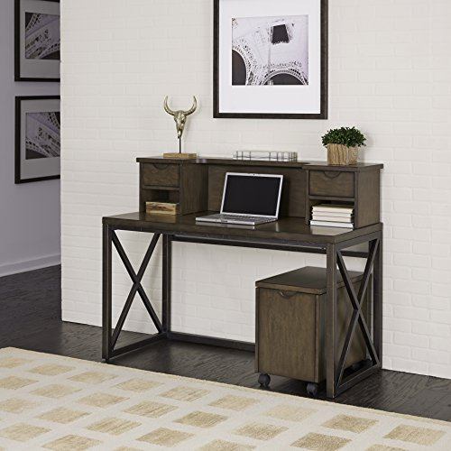 Home Styles 5079-152 Xcel Office Desk with Hutch & Mobile File by Home Styles