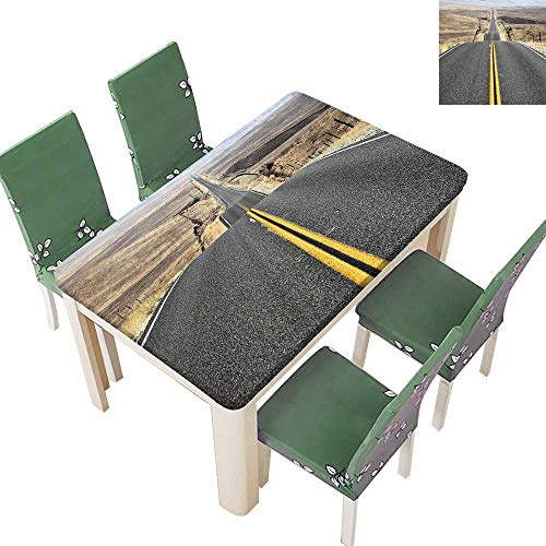 (Table in Washable Polyeste Pacific Coast Highway The Trip to Endl ERT W Tern Photo Grey Wedding Party Restaurant 50 x 72 Inch (Elastic Edge))