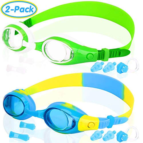 COOLOO Kids Swim Goggles, Swimming Glasses for Children and Early Teens from 3 to 15 Years Old, Anti-Fog, Waterproof, UV ()