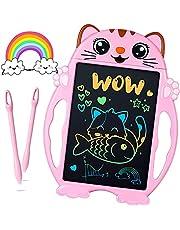 Barn leksaker flickor LCD skrivtavla – presenter till flickor & pojkar skrivpanel, färgglad skrivtavla elektronisk 21 cm, skrivtavla barn gåvor, pojkar flickor leksaker från 3 år