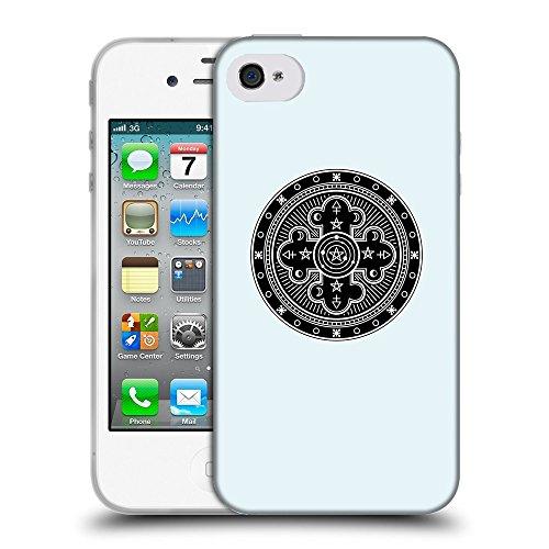 GoGoMobile Coque de Protection TPU Silicone Case pour // Q08310619 Mystique occulte 10 Bulles // Apple iPhone 4 4S 4G