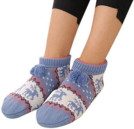 子供用の暖かい靴下は、Fairisleパターンスリッパの床の靴下を編んだ秋冬 防寒 厚い 保温 就寝 睡眠用 厚手 暖か 冬の靴下 おしゃれ 快適 室内 室外スリッパ ギフトソッ クリスマス
