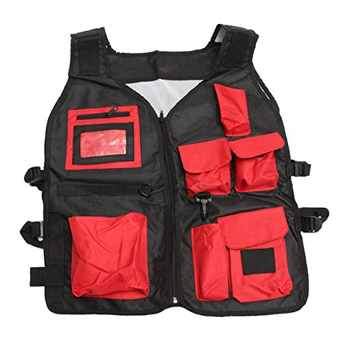 Tool Organizers Electrician Carpenter Plumber Craftman Construction Pouch Bag Tool Vest by Yoton (Image #6)