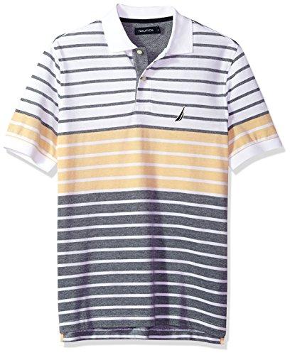 Golf Pique Oxford Shirt - Nautica Men's Short Sleeve Colorblock Cotton Oxford Pique Polo Shirt, Mustard Field, X-Large