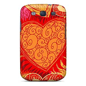 Hot Snap-on Art Hearts Hard Cover Case/ Protective Case For Galaxy S3