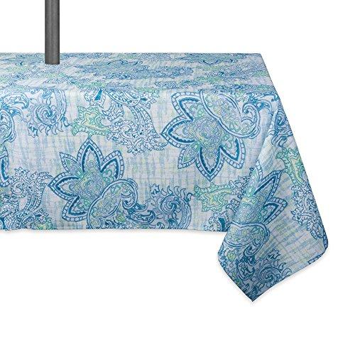 DII CAMZ10393 TC OUTDOOR ZIP BLUE PAISLEY 60X120 w/Zipper, Watercolor