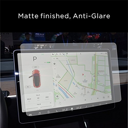 INNOSURE Tesla Model 3 Screen Protector Tempered Glass (9H) for Navigation protection Anti-glare (Matte)