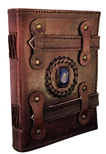 Federal Blue Mix (AOL LEATHER JOURNAL Handmade Notebook Gift for Men Women Medium Vintage 7 x 5 inch Unlined Blank Notebook Travel Diary Notepad Gift for Men Women)