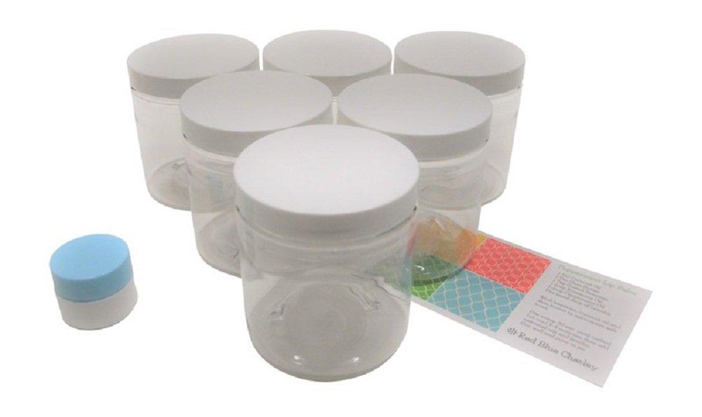 Amazon.com: Tarros de plástico transparentes de 8 oz con ...