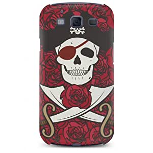 Skull Head Pirate with Roses Hard Case Cover for Samsung Galaxy S3