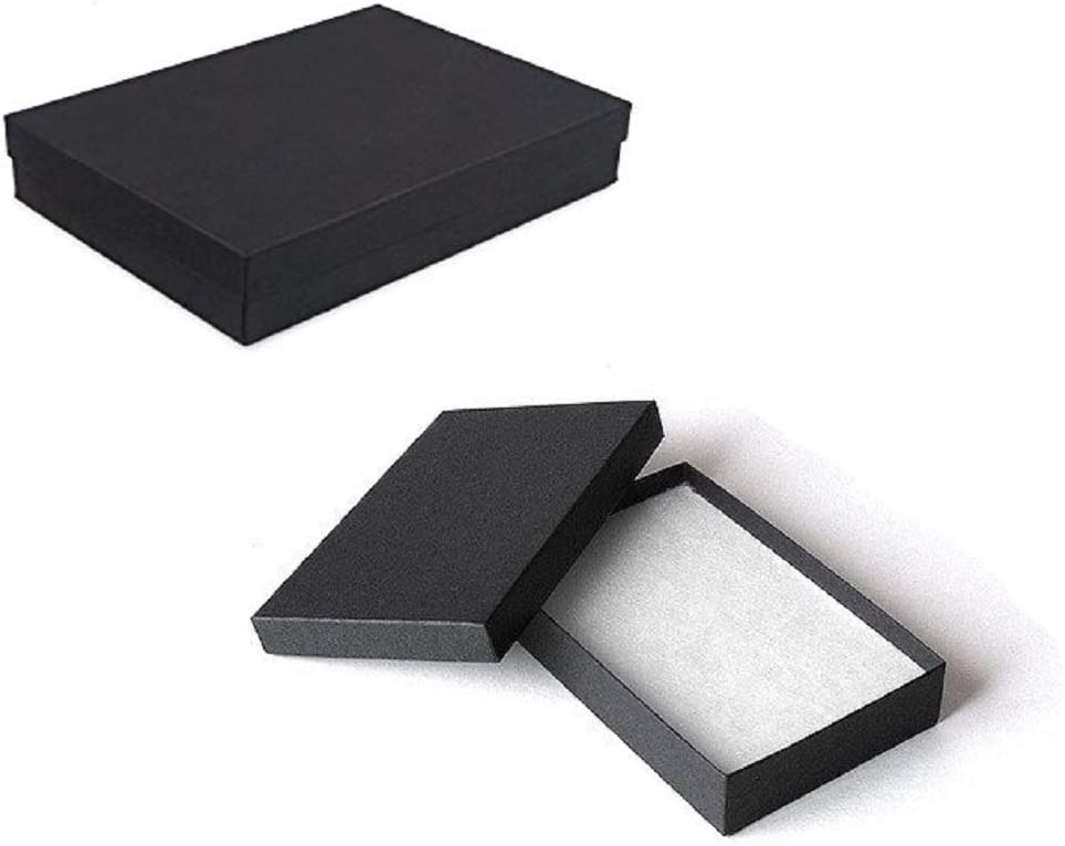 Dark Red Rectangular Jewellery Necklace Case Cardboard Gift Holder Box N3X5
