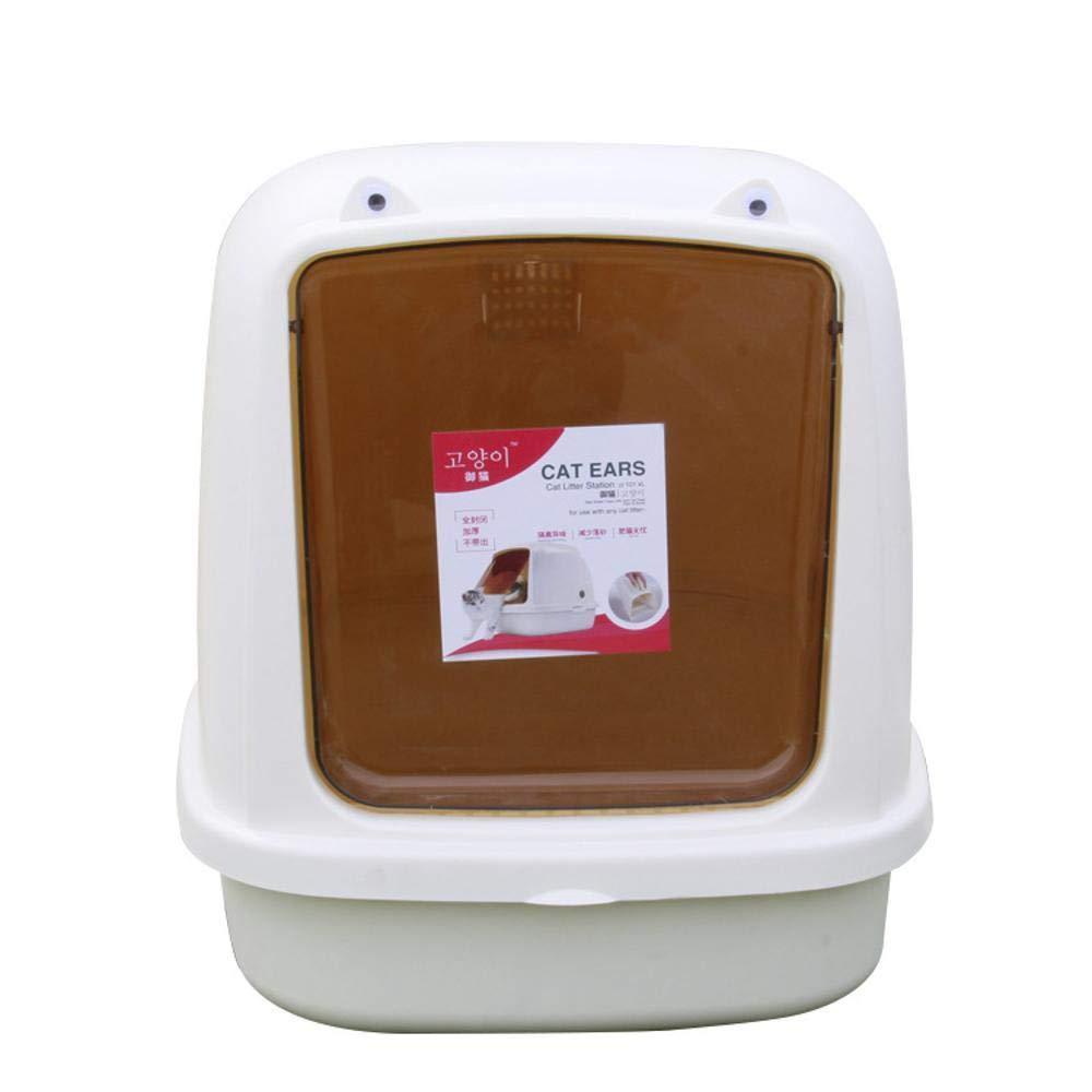 624250cm Axiba Pet toilet Cat Sand basin Anti-splash full enclosed cat litter pan Clamshell cat supplies