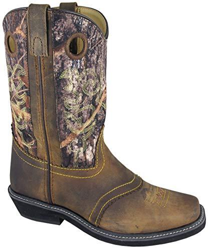 11' Americana Cowboy Boot - Smoky Mountain Ladies Pawnee Square Toe Boot Brown Oil Distress/Camo Brown Oil Distress/Camo 11
