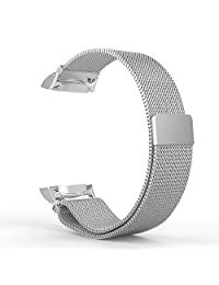 Gear S2 Watch Band, MoKo Milanese Loop Stainless Steel Bracelet Smart Watch Strap + Connector for Samsung Gear S2 SM-R720 & SM-R730 Smart Watch (Not Fit Gear S2 SM-R735), SILVER