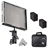 Fomito Aputure Amaran AL-528W CRI95 + Wide Angle Led Videoblit Led Studio Light Kit with 2 x F970 Li-Ion Batteries